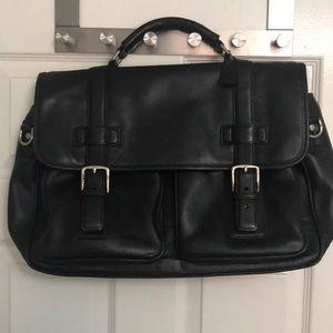 3c4a6b1cb0 Coach leather men's Tyler work computer bag Black